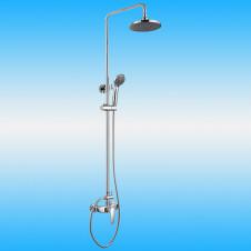Душевая стойка KAISER 68182 со смесителем без излива, тропическим душем, хром