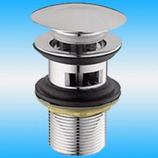 Водослив для сифона LEDEME L65-2 Click-Clack, металлический, круглый, хром