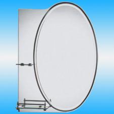 Зеркало FRAP F601 овальное 1 светильник, 2 полочки 700x500
