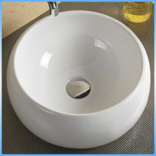 Умывальник накладной MELANA MLN-5004 круглый, белый 395x395x155