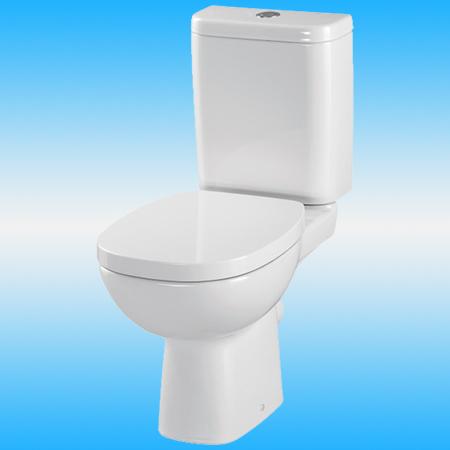 Унитаз-компакт CERSANIT CARINA безободковый, прямой выпуск, слив 3/6, сиденье дюропласт микролифт