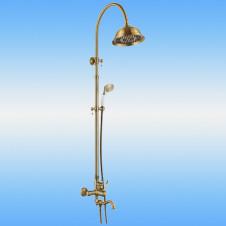 Душевая стойка AKSY BAGNO Ps701-2005-2001 Bronze со смесителем, поворотный излив, бронза