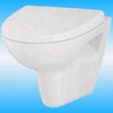 Унитаз подвесной CERSANIT PARVA безободковый, прямой выпуск, сиденье микролифт, белый