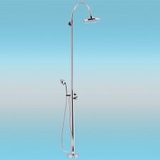 Душевая стойка KAISER 25182 напольная, без смесителя, тропическим душем, хром