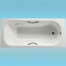 Ванна чугунная ROCA MALIBU 1500х700 п/ск.покр., с отверстиями для ручек