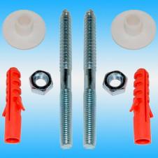 Комплект крепления умывальника к стене REMER (2 шпильки М10, дюбели, прокладки)