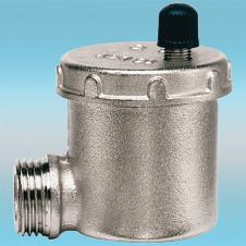 Воздухоотводчик для радиатора угловой ø 1/2 (кран Маевского) автоматический