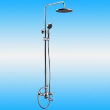 Душевая стойка KAISER TRIO 57188 со смесителем, тропическим душем, хром