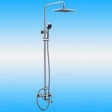 Душевая стойка KAISER TRIO 57288 со смесителем, тропическим душем, хром
