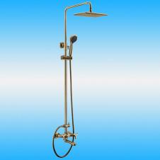 Душевая стойка KAISER TRIO 57288 BRONZE со смесителем, тропическим душем, бронза