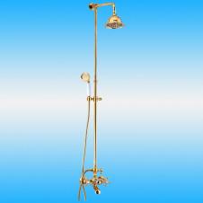 Душевая стойка KAISER 90190-3 со смесителем, тропическим душем, золотой