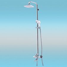 Душевая стойка KAISER ARENA 36182 со смесителем, тропическим душем, белый