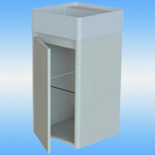 Зеркало-шкаф Я-МЕБЕЛЬ Прованс 85С правый, ясень, белый, 1 дверца