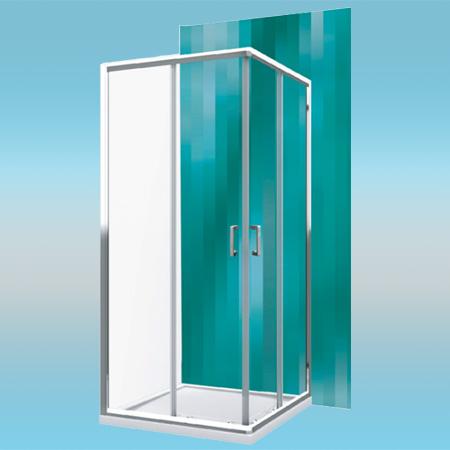 Душевой уголок ROLTECHNIK LIGA LINE LLS2/800 квадратный, раздвижной 790x1900x430