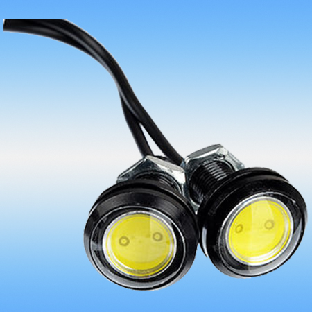 Дневные ходовые огни NEW GALAXY 702-102 LED, алюм. корп. ø 23 мм, 12V белый, 2 шт