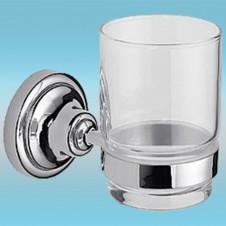 Держатель стакана LEDEME L1406 настенный, металлический, стекло/хром