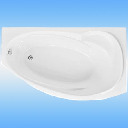 Ванна акриловая AQUANET Jersey 1700x900 правая, без каркаса и перелива