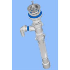 Сифон гофрированный АНИ ПЛАСТ G118 ø 1 1/2x40/50  удлиненный с отводом к стиральной машине