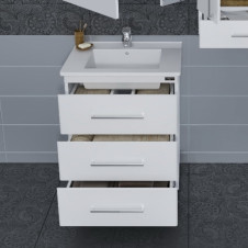 Зеркало-шкаф САНТА АФИНЫ-60 белый, левый