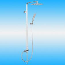 Душевая стойка KAISER 35482 без смесителя, тропическим душем, белый