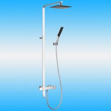 Душевая стойка KAISER 35282 с термостатом, тропическим душем, белый