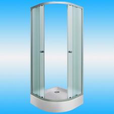 Душевой угол МАРКА Afina радиус 800x800x1850 белый профиль, матовое стекло