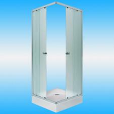 Душевой угол МАРКА Irida квадрат 800x800x1850 белый профиль, матовое стекло