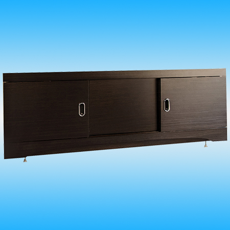 Экран фронтальный под ванну ALAVANN КУПЕ МДФ 1600 венге 1570х523х58, 3 двери