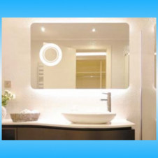 Зеркало люкс GLASSIKO BAROCCO 1000x650 с подсветкой, подогревом и сенсором