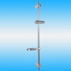 Душевой гарнитур BRAVAT SB033101_D с мыльницей, длина 750 мм, ø 22 мм