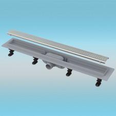 Водоотводящий желоб ALCAPLAST APZ9 пластиковый 750мм с решеткой из нержавеющей стали, матовый