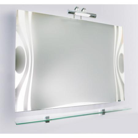 Зеркало VIGO WAVE-75, 750x42x800, с подсветкой и стеклянной полкой