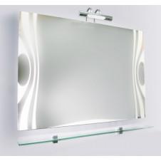 Зеркало VIGO WAVE-100, 100x42x800, с подсветкой и стеклянной полкой