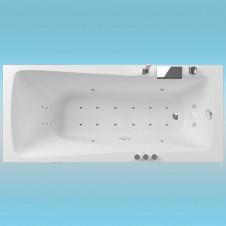 Ванна акриловая AQUATIKA АВЕНТУРА 1500х700x680 с каркасом и панелью, без гидромассажа