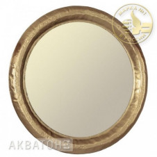 Зеркало АКВАТОН АНДОРРА-75, круглое, золото