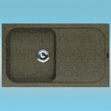 Мойка из литого мрамора FLORENTINA АРОНА-860 коричневая 860х510х217