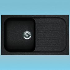 Мойка из литого мрамора FLORENTINA АРОНА-860 черная 860х510х217