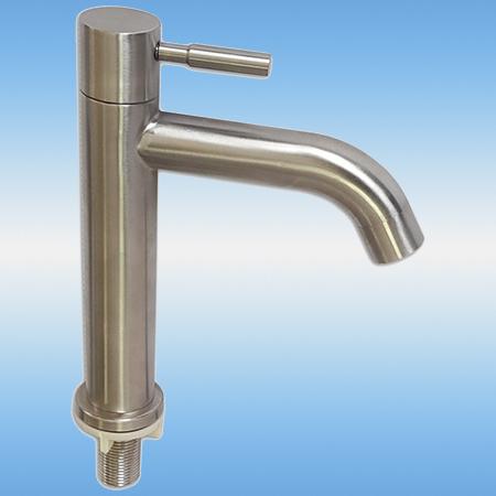 Смеситель для умывальника MAGNUS 9223 моно, на одну воду, литой излив, нержавеющая сталь 304