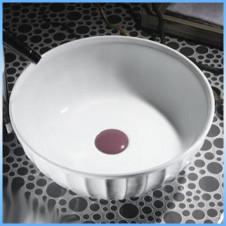 Умывальник накладной MELANA MLN-4033 круглый, белый 395x395x140