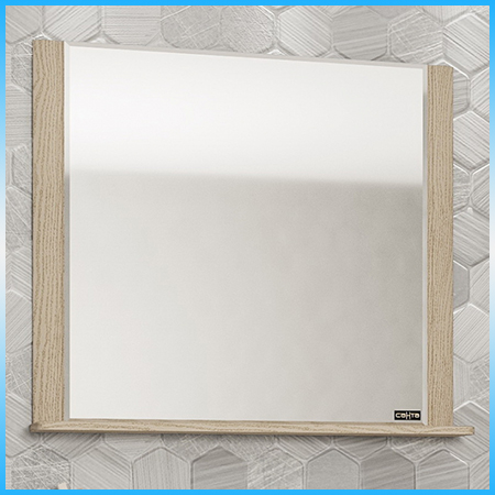 Зеркало САНТА МАДРИД 80, 810х820х16, белая патина, золото