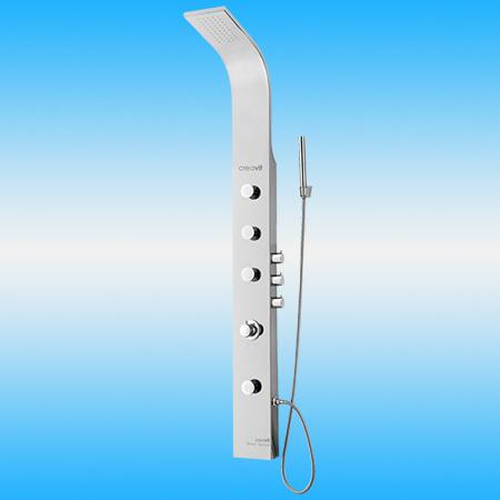 Душевая панель CREAVIT P601 из нержавейки с термостатом, матовая