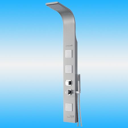 Душевая панель CREAVIT P707 из нержавейки с термостатом, матовая