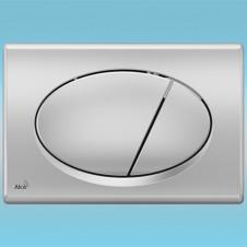 Смывная клавиша для инсталляции ALCAPLAST M72 хром-матовая