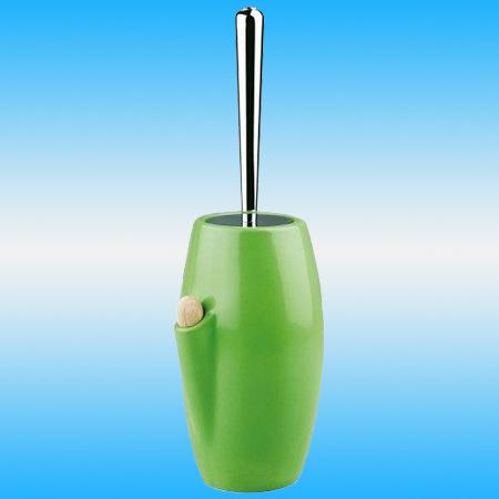 Ершик для унитаза STILHAUS ZEFIRO VERDE 646 напольный, с ароматизатором, керамика, зеленый/хром