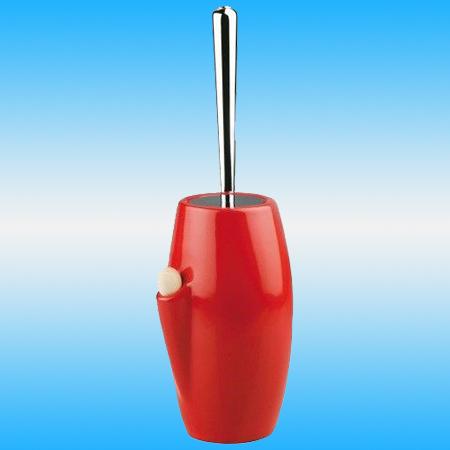 Ершик для унитаза STILHAUS ZEFIRO ROSSO 646 напольный, с ароматизатором, керамика, красный/хром