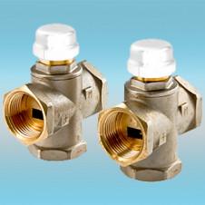 Клапан трехходовой смесительный VALTEC ø 1 (с боковым смешиванием, с возможностью полного перекрытия