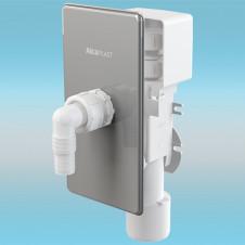 Сифон для стиральной машины ALCAPLAST APS3P с комб. г/затв., разр. клапаном, под штукатурку, хром