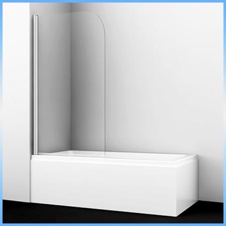 Шторка на ванну WasserKraft LEINE 35P01-80, 1400х80, универсальная, одностворчатая, распашная