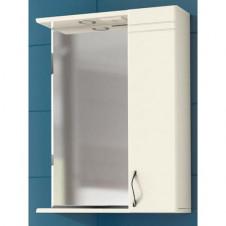Шкаф зеркало VIGO ALESSANDRO-55 550x150x700 белый, правый с подсветкой