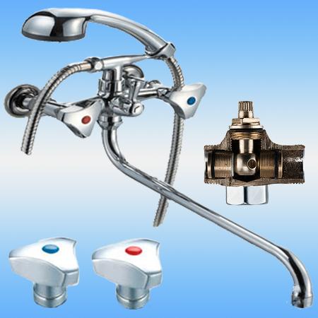 Смеситель для ванны/душа ПСМ-157-К/80 двухвентильный, дивертор-шар, пермь, хром